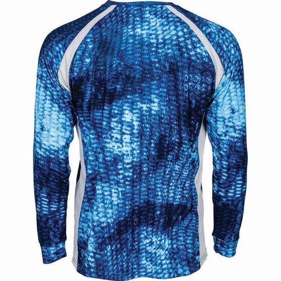 PELAGIC INC Men's Vaportek Sublimated Polo Blue M, Blue, bcf_hi-res
