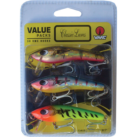 Classic Just Under Hard Body Lure 80mm 3 Pack, , bcf_hi-res