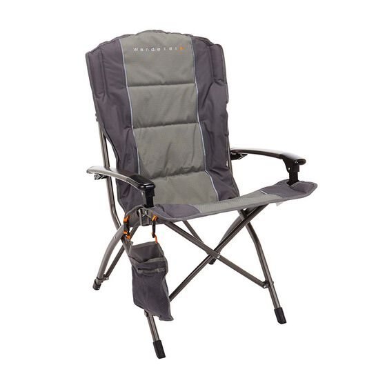 Wanderer Premium Solid Arm Camp Chair, , bcf_hi-res