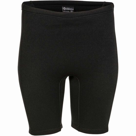 Outdoor Expedition Women's Neoprene Shorts Black 12, Black, bcf_hi-res