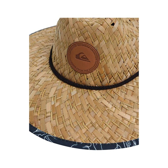 Quiksilver Waterman Men's Outsider Straw Hat, Midnight Blue, bcf_hi-res