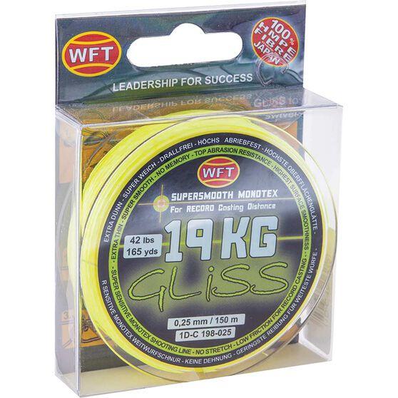 WFT HMPE Gliss Line Braid Line 150m Yellow 19kg, Yellow, bcf_hi-res