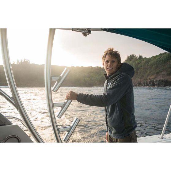 Quiksilver Men's Bigger Boat Zip Hoodie, Orion Blue Heather, bcf_hi-res