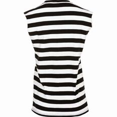 Tide Apparel Women's Stripe Tank Top Black / White 8, Black / White, bcf_hi-res