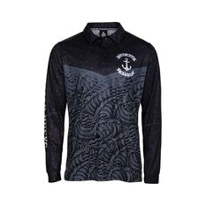 The Mad Hueys Men's Anchor Dark Sea Fishing Jersey Black S, Black, bcf_hi-res