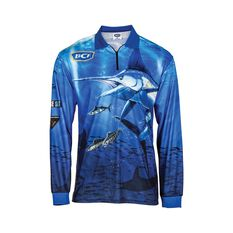 BCF Marlin Sublimated Polo Blue S, Blue, bcf_hi-res