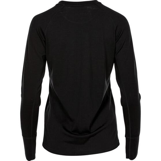 OUTRAK Women's Merino Long Sleeve Top, Black, bcf_hi-res