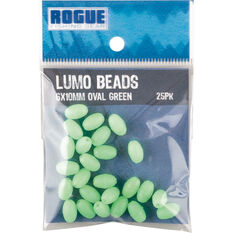 Rogue Oval Lumo Beads 25 Pack Green 4.5x6mm, Green, bcf_hi-res