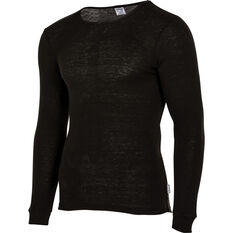 OUTRAK Men's Polypro Long Sleeve Top Black S, Black, bcf_hi-res