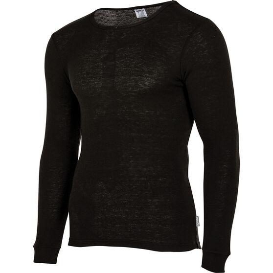 Men's Polypro Long Sleeve Top, Black, bcf_hi-res