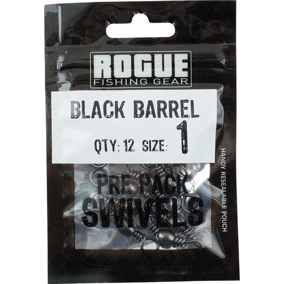 Rogue Black Barrel Swivel 12 Pack, , bcf_hi-res