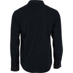 OUTRAK Men's Yarn Dye Flannel Shirt Black 2XL, Black, bcf_hi-res