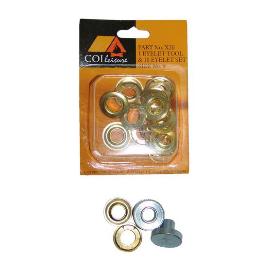 COI Leisure Eyelet Tool 10 Pack Size 4, , bcf_hi-res
