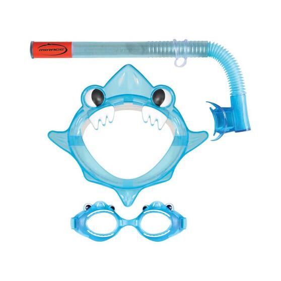 Mirage Aqua Junior Mask and Snorkel Set Blue, Blue, bcf_hi-res