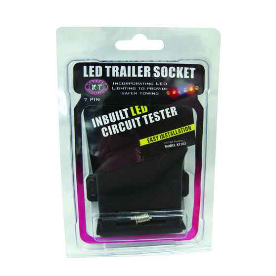 KT Cables 7PIN Flat LED Tailer Socket, , bcf_hi-res